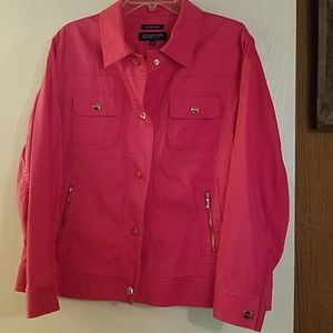 Jones new York stretch pink jacket